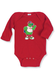 Philadelphia Phillies Baby Red Infant Long Sleeve One Piece