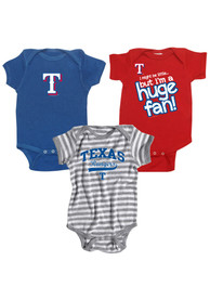 Texas Rangers Baby Red 3-Pack One Piece