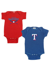 Texas Rangers Baby Red 2-Pack One Piece