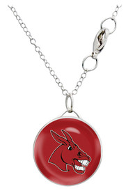 Central Missouri Mules Womens Single Drop Necklace - Red