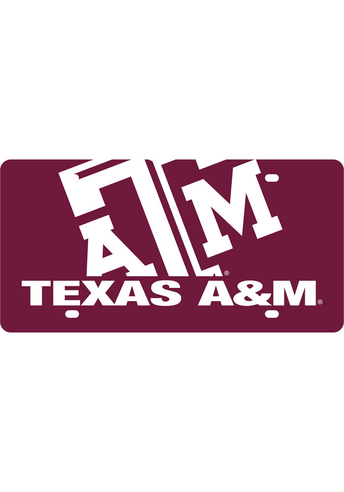 Texas A&M Aggies Mega Logo Car Accessory License Plate - Image 1