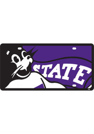 K-State Wildcats Team Logo Mega Car Accessory License Plate