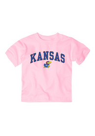 Kansas Jayhawks Infant Girls Arch Short Sleeve T-Shirt Pink