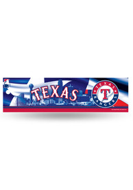 Texas Rangers 3x11 Bumper Sticker - Blue