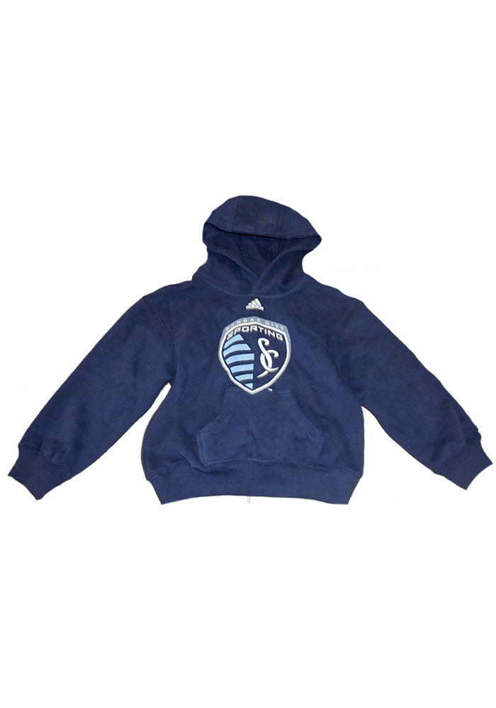 Sporting Kansas City Boys Distressed Logo Hooded Sweatshirt - Navy Blue