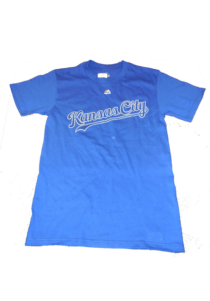 Majestic Kansas City Royals Blue Rally Loud Short Sleeve T Shirt - Image 1