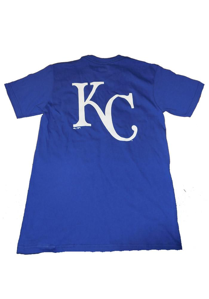 Majestic Kansas City Royals Blue Rally Loud Short Sleeve T Shirt - Image 3