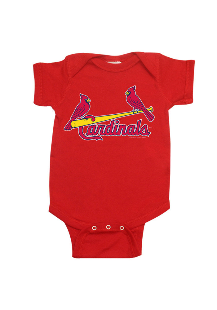 St Louis Cardinals Baby Red Creeper Short Sleeve Creeper - Image 1