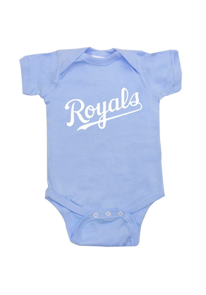 Kansas City Royals Baby Light Blue Infant Jersey Logo One Piece