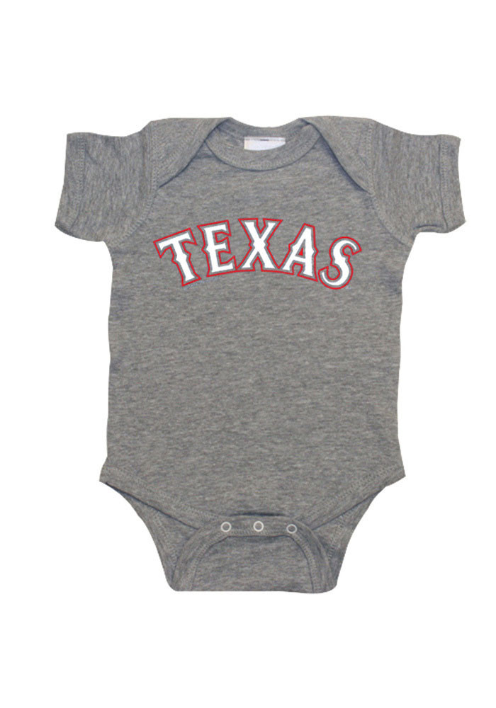 Texas Rangers Baby Grey Creeper Short Sleeve Creeper - Image 1