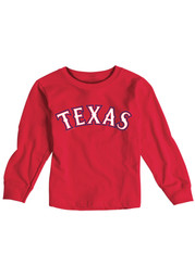 Texas Rangers Baby Red Infant Jersey Logo T-Shirt