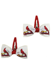 St Louis Cardinals Baby Clippies Hair Barrette - White
