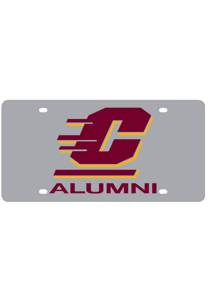 Central Michigan Chippewas Logo with Alumni Car Accessory License Plate - Image 1