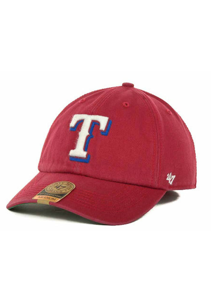 47 Texas Rangers Mens Red 47 Franchise Fitted Hat - Image 1
