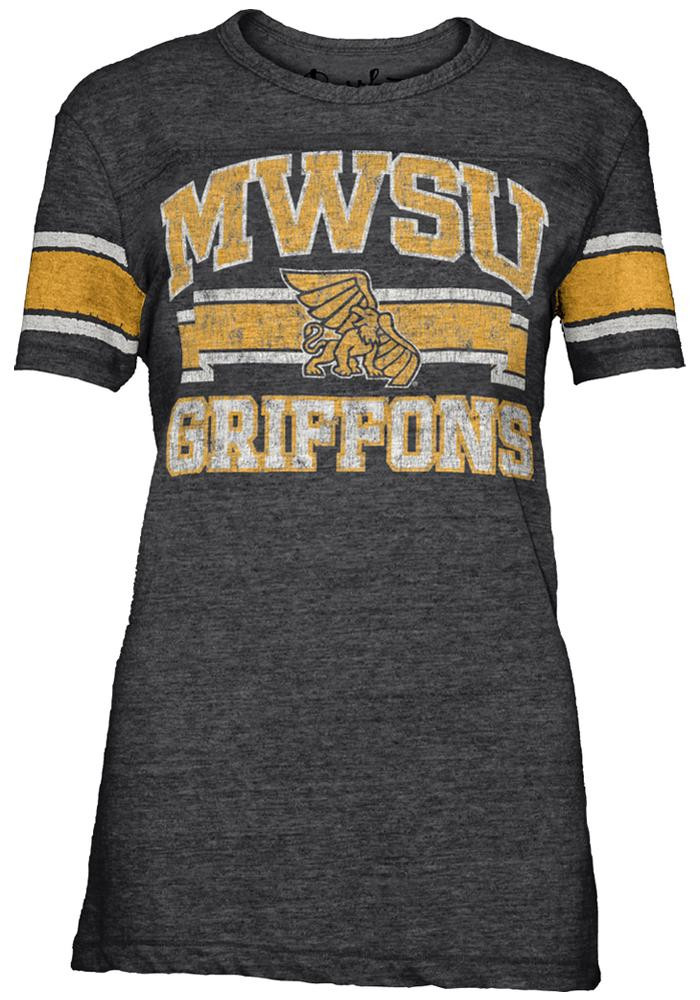 Missouri Western Griffons Juniors Black Sally Short Sleeve Crew T-Shirt - Image 1