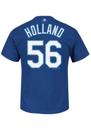 Greg Holland Kansas City Royals Mens Blue Name and Number Player Tee