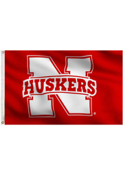 Nebraska Cornhuskers 3x5 Red Grommet Applique Flag