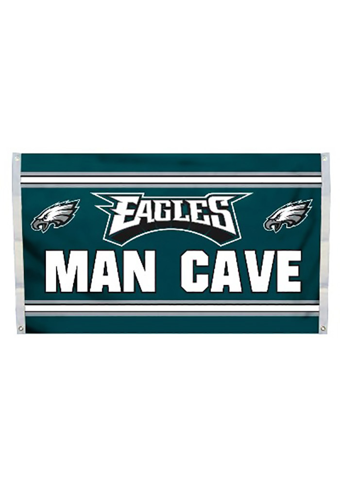 Philadelphia Eagles Man Cave Kelly Green Silk Screen Grommet Flag - Image 1