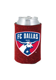 FC Dallas Red Glitter Can Coolie