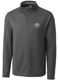 Kansas City Royals Cutter and Buck Topspin 1/4 Zip Pullover - Charcoal
