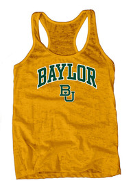 Baylor Bears Juniors Gold Pocket Burn Tank Top