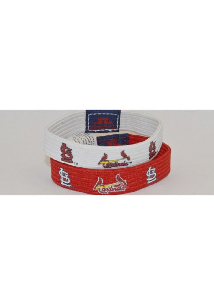 St Louis Cardinals 2 pack Mens Wristband - Image 1