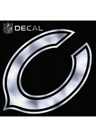 Chicago Bears 6x6 Metallic Auto Decal - Silver
