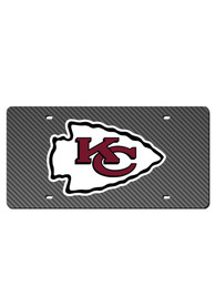 Kansas City Chiefs Team Logo Carbon Fiber Car Accessory License Plate