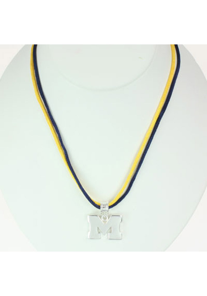 Michigan Wolverines Logo 16` Strand Necklace - Image 1