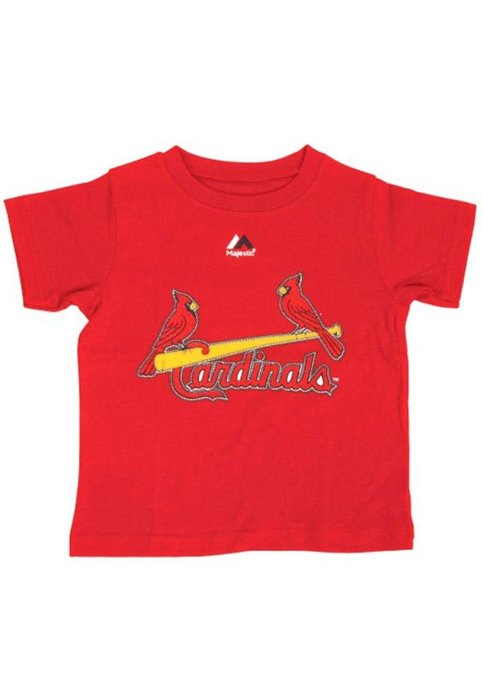 Yadier Molina St Louis Cardinals Infant Player Short Sleeve T-Shirt Red - Image 2
