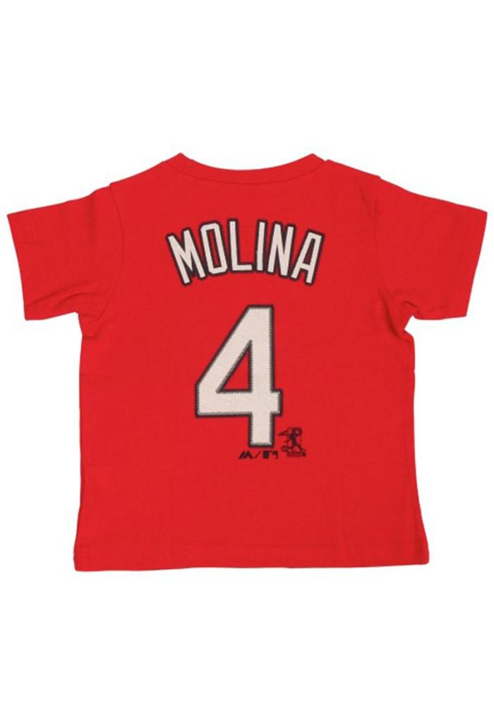 Yadier Molina St Louis Cardinals Infant Player Short Sleeve T-Shirt Red - Image 3