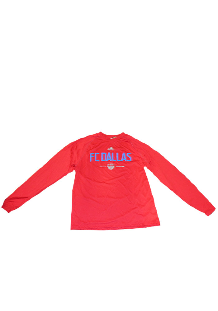 Adidas FC Dallas Red Climalite Long Sleeve T-Shirt - Image 1