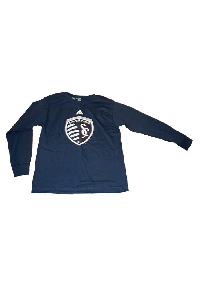 Sporting Kansas City Youth Navy Blue Sporting Long Sleeve T-Shirt - Image 1