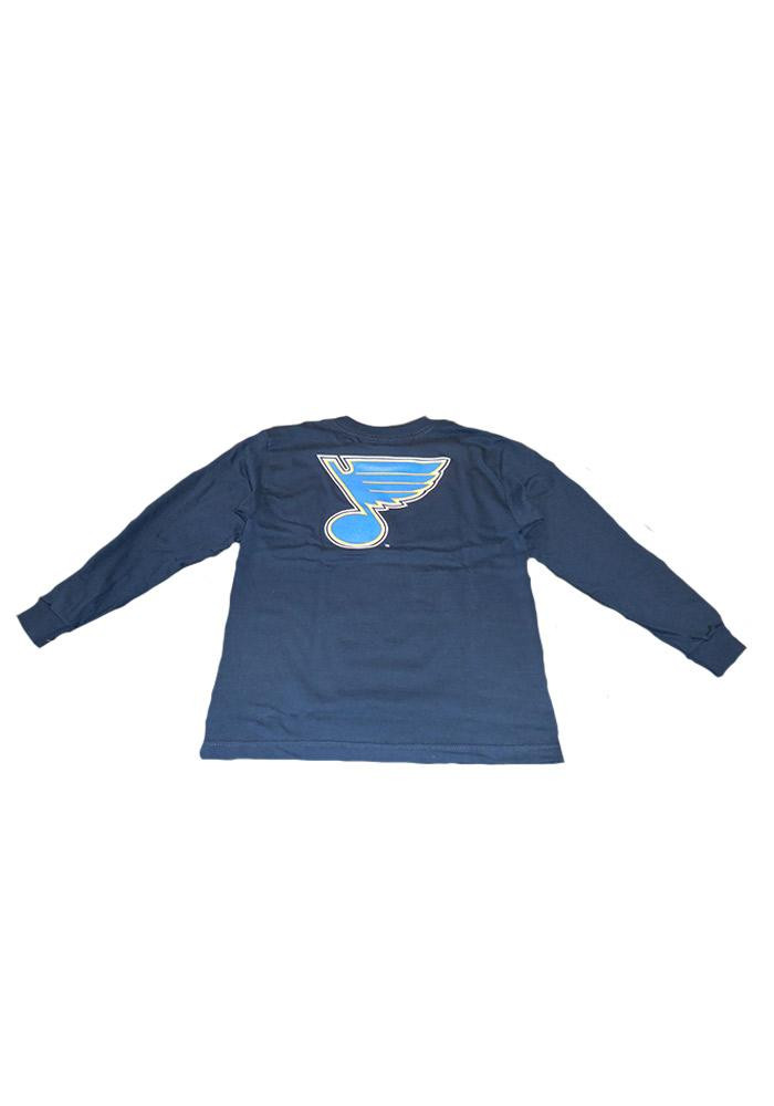 St Louis Blues Kids Navy Blue Youth Rally Loud Long Sleeve T-Shirt - Image 2