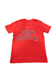 St Louis Cardinals Youth Red Youth Rally Loud T-Shirt