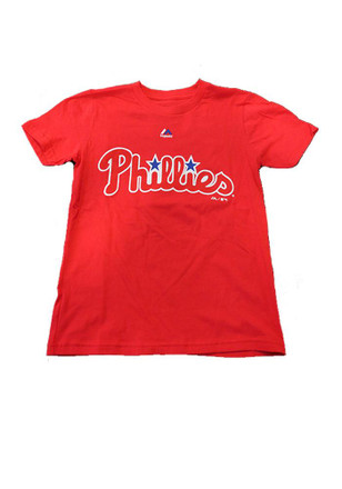 Philadelphia Phillies Youth Red Youth Rally Loud T-Shirt
