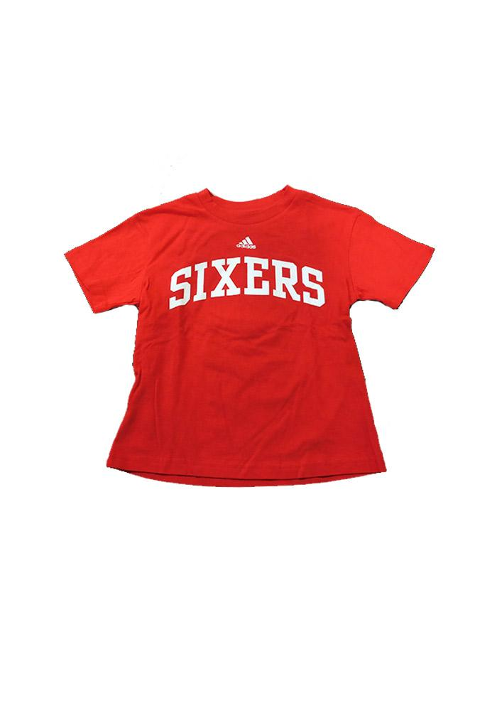 Philadelphia 76ers Youth Red Youth Rally Loud Short Sleeve T-Shirt - Image 1
