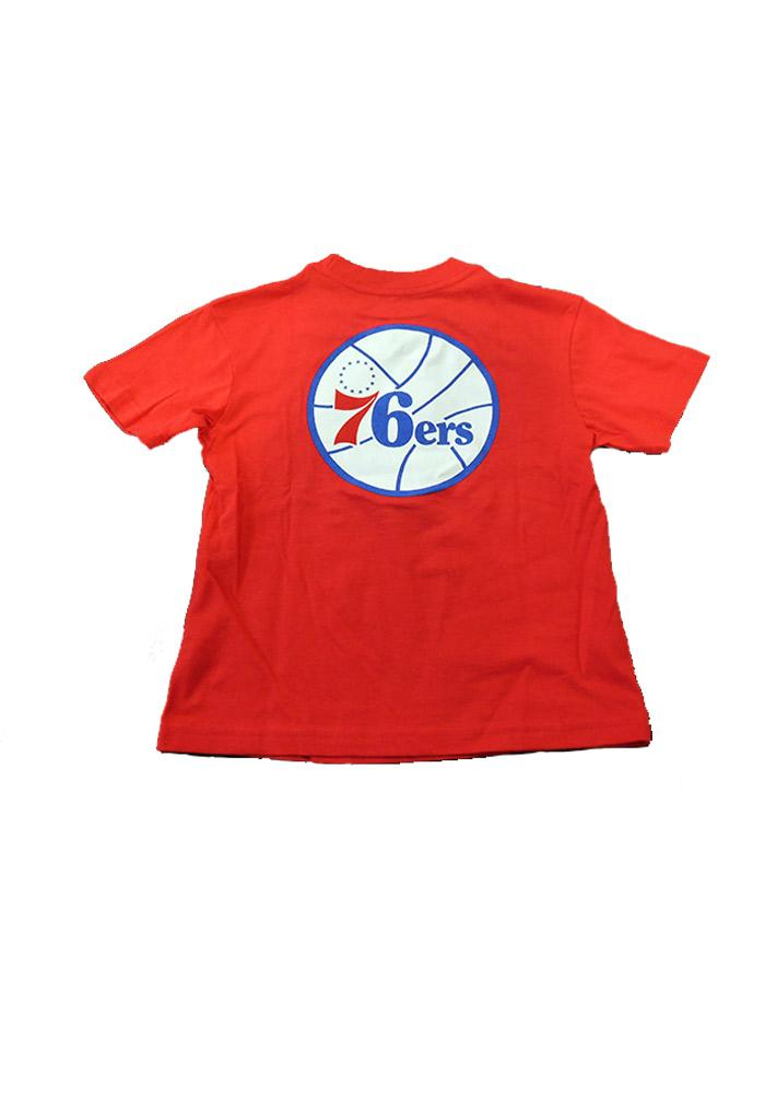 Philadelphia 76ers Youth Red Youth Rally Loud Short Sleeve T-Shirt - Image 2