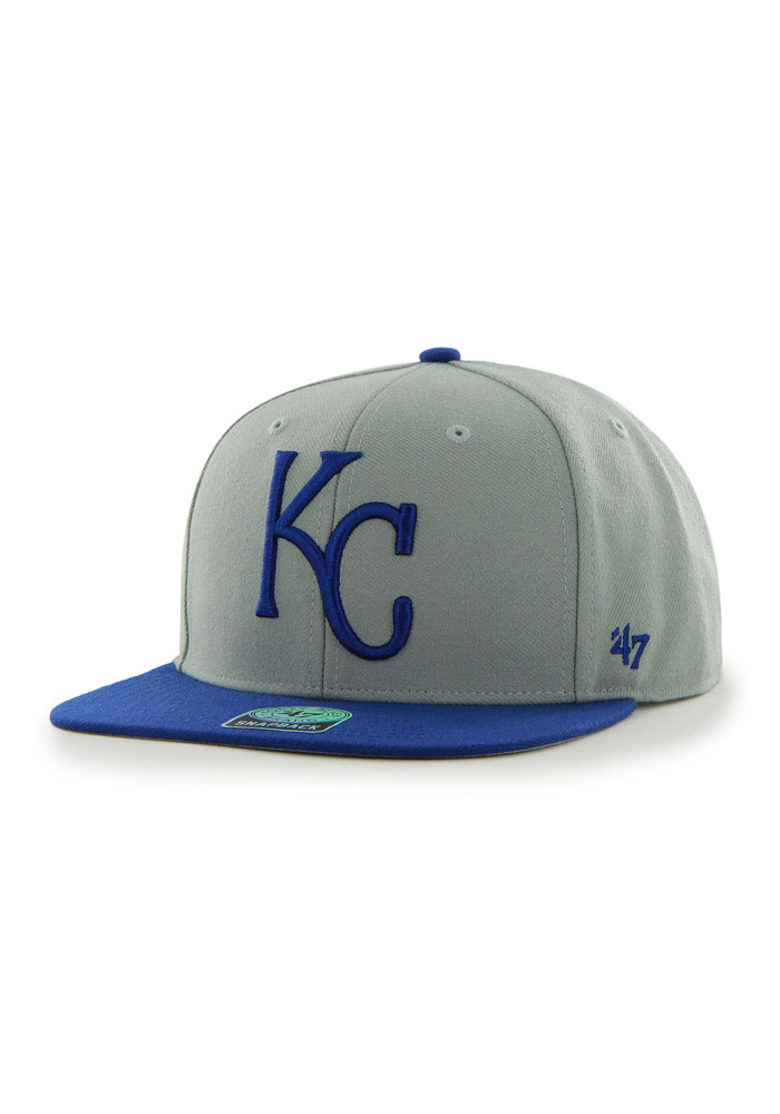'47 Kansas City Royals Grey Sure Shot Mens Snapback Hat - Image 1