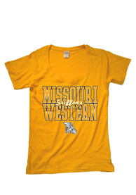 Missouri Western Griffons Womens Gold Arched Mascot Fit Tee