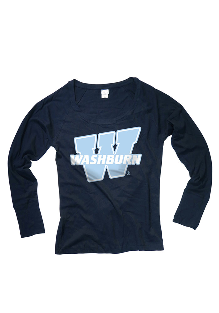 Washburn Juniors Navy Blue Cotton Jersey Long Sleeve Scoop Neck - Image 1