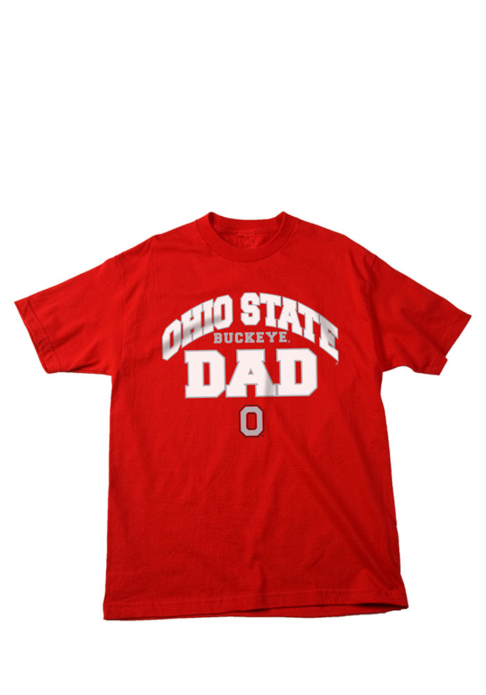 Ohio State Buckeyes Mens Red Dad Short Sleeve T Shirt - Image 1
