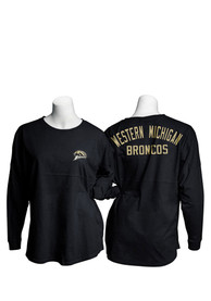 Western Michigan Broncos Womens Gameday Jersey Black LS Tee