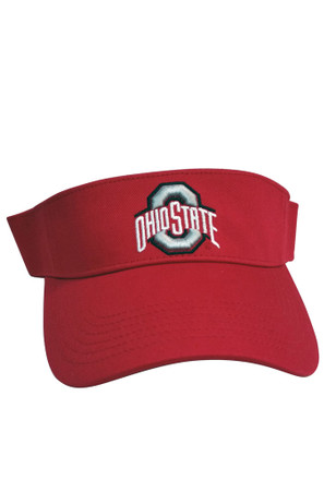 The Ohio State University Mens Red Adjustable Visor