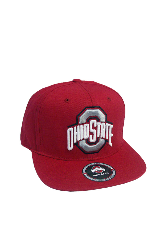 Ohio State Buckeyes Red Touchback Mens Snapback Hat - Image 1