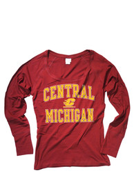 Central Michigan Chippewas Womens Maroon Arch Logo Women's Scoop