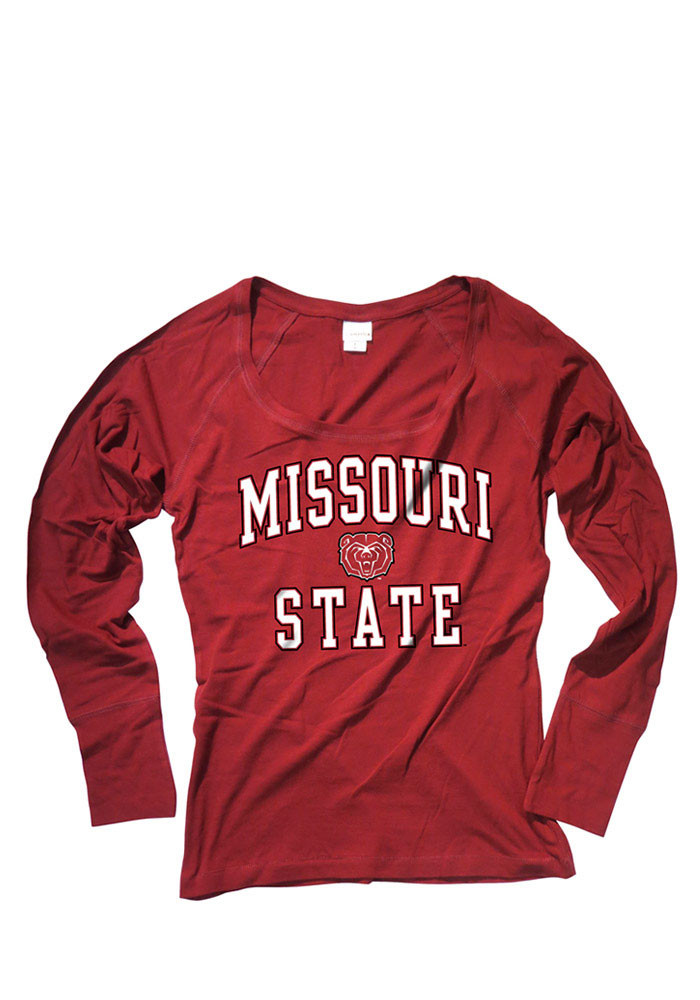 Missouri State Bears Womens Maroon Arch Long Sleeve Women's Scoop - Image 1
