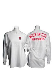 TTech Red Raiders Womens Game Day white LS Tee
