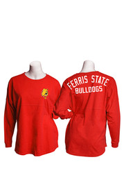 Dogs Womens Gameday Jersey Red LS Tee