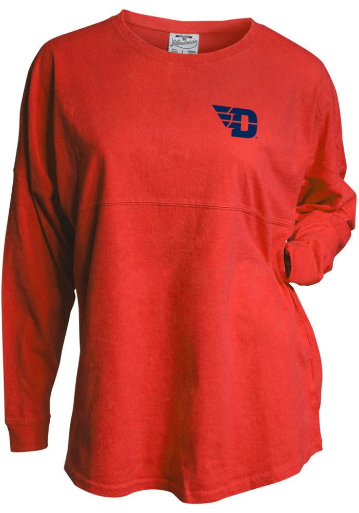 Dayton Flyers Womens Red Game Day Jersey LS Tee - Image 1